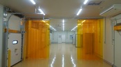 Slide Type Accordion Type Strip Curtain Uniflow PVC Slit Curtain Thailand