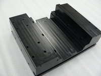 Black anodized processing of aluminum parts