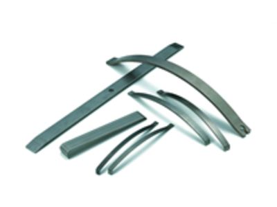 Leaf springs that remain stable even in a corrosive environment with temperatures of up to 600°C