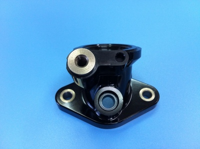 Intake manifold hold parts for motorcycles [thermosetting resin insert core removal structure]