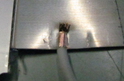 Direct resistance Welding Lead Line On To Copper Sheet