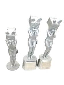 An aluminum replica by 3d additve manufacturing with casting technology(Yuru-chara)