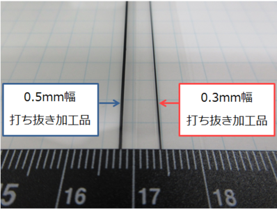 【0.3mm Thickness Mass Production Achievement】 Smart phones dieing out press for panel stabilizing double-sided tape, prototype, mass production 【Slim Border】