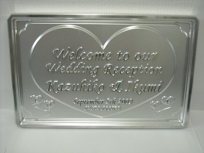 Cutting work example 3: Welcome board