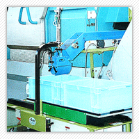 "Stockpiling machine protecting products from scratch & dent. ""Dakon-ashin"" SP・HP・HPG・TP series"